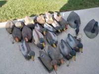 Mixed brands of duck and goose decoys; 2 Plastic goose