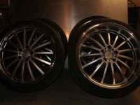 "For sale is a set of 19"" Mandrus Millenium wheels and"