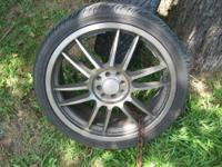 "Four (4) 19"" RSL Elite alloy rims with four (4) tires."