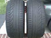 2-Michelin Pilot Primacy 275/40/19 50% tread