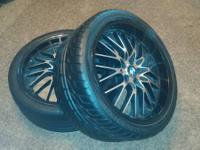 I am offering the rims/wheels with tires that