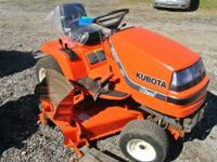 "1900 Kubota G1900 60"" 18hp Kubota G1900 Ride-on Lawn"