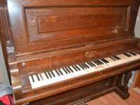 Good antique piano. Milton brand from 1900's has some