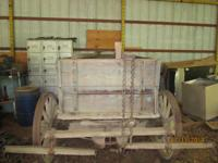 RARE FIND, ALL ORIGINAL! 1900's Wood Utility Wagon,