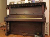 "Sohmer upright (54"") in good condition has been in same"