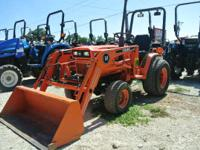 It is 4x4 with grass tires has ROPS leather seat w/