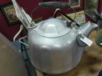 Vintage European aluminum kettle. Wonderful for display