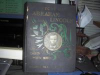"For Sale: 1902 Book ""Story of Abraham Lincoln"" From Log"