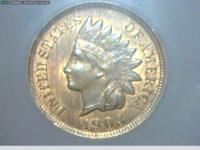 THIS COIN IS A BEAUTY ALOT OF ORIGINAL RED LEFT