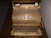 1903 NCR ornate brass cash register.Has historical