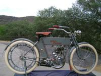 Beautifully restored 1910 Harley single cylinder