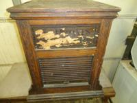 Oak Spool Thread Cabinet circa 1911.  It is in as found