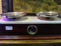 Beautiful, working balance scale made with mahogany,