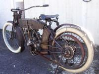 EXTRA-RARE 1912 ALL ORIGINAL-UNALTERED HARLEY-DAVIDSON