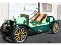 1914 Ford T Speedster. This beautiful brass Ford was