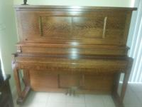 Antique 1914 Rare Straube Hammond Grand Cabinet Tiger