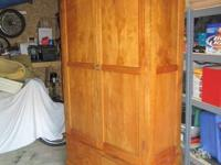 Beautiful Armoire and Bench dating back to 1915. Made