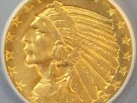 1915-S INDIAN $5 GOLD VERY SCARCE HIGH QUALITY