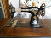 Vocalist treadle sewing device in perfect working