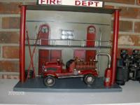 This is a very old replica of a fire station as a