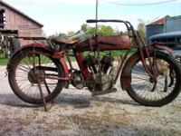 1916 Indian Powerplus Motorcycle. Very, Very Rare -
