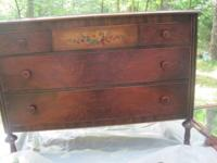 A very wonderful antique lumber bed space set