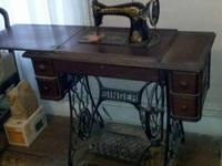 1918 Singer Sewing Machine with original bill of sale