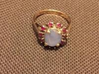 Star Sapphire ring accented in Rubies. Appraised in