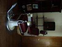 I HAVE A 1920 KOKEN BARBER CHAIR WITH CHILD'S SEAT