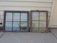 26 antique window sashs with hardware from a 1920's