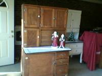 1920's oak hoosier cabinet found in Guilford County.