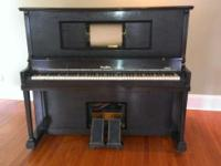 "1920's Wurlitzer ""Studio"" Player piano. Has been in the"