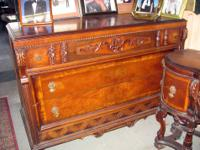 This is a 1930s era Jacobean Style Bedroom Set made by