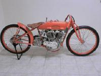1922 Harley Davidson JD Racer. This bike was rebuilt by