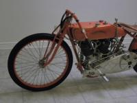 1922 Harley Davidson JD Racer. The bike has a