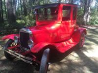 1924 Ford Model T Coupe. 1924 5 window T Coupe. The Car