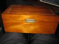 AVAILABLE.  1924 Coolidge Cabinet cigar box. From