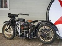 This is a 1924 Henderson Deluxe. The bike is mostly