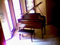 Marshall-Wendell 1924 approx 5' baby grand ampico