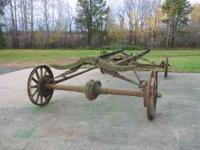 For sale a 1926? Model T frame with wooden spoke