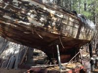 "1927 Sea Bird Wood Sailboat. 26 ft. long. ""Yama"" marine"
