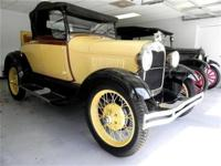 This 1928 Ford Model A Convertible . It is equipped