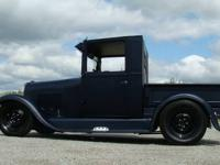 1928 FORD MODEL A CLOSED CAB PICK UP 350 CHEVY 465 LIFT