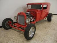 1928 Ford Model A Sedan Delivery. A-Rod custom chassis,