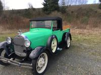 1928 Ford Model A Roadster.  Very rare car in very good