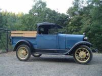 1928 Ford Model A Roadster Antique With a little over