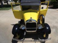Yellow 1928 Ford Model AA Pickup Truck fully restored!
