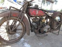 This 101 Scout motorcycle was last run in 1972 and it