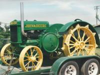 A running tractor on steel wheels, no pto; restored in