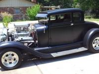 1929 Ford coupe, all steel, chopped 4?, 6-71 blown 355